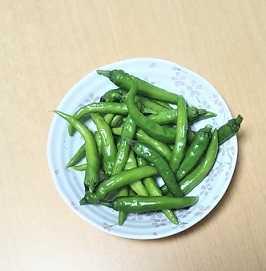 *本日の収穫、「甘とうがらし」(*^o^*)/。