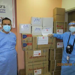 【イラクにマスクを】バグダードへ2回目の物資を届けました。