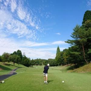 小萱チェリークリークCCでゴルフ 9月編 その2 ~後半はパーでスタート、しかし連続100切りならず・・・~