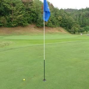 美濃関カントリークラブでゴルフ その1 ~なんとか雨は降らず、あわやホールインワン バーディーGET!、5連続100切りなるか?~