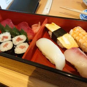 岡崎 三嶋寿司 総本店のランチ ~アジ&サバのフライ、握り寿司のセット~