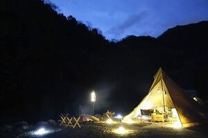 キャンプで需要が急増しているライト類。