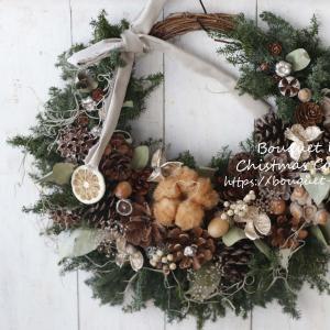 【レッスンレポ】一番人気の木の実いっぱいのクリスマスリースレッスン♪