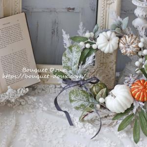 【レッスンレポ】玄関にリースのある風景・ハロウィンのリースレッスン
