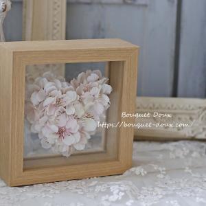 【レッスンレポ】季節によってお花も模様替え・クリアフレーム桜バージョン