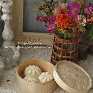 9月のしめくくりは花と団子で