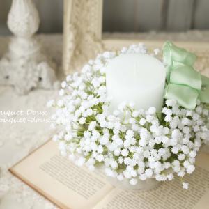 【レポ】お花と相性の良いキャンドルとリボンワーク♪