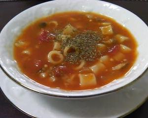 ベジタブル・パスタスープ。