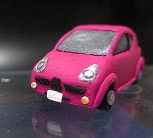 ミニカー出来ました。スバルの軽自動車 R1