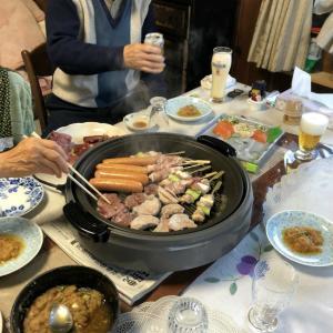 中年の日本帰郷 Vol.48 実家最終日夜~ちゃんぽん祭り老人暴走BBQ