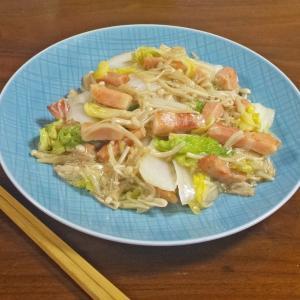 【食材3つで絶品レシピ】ベーコンと白菜 えのきのとろみ蒸し炒め
