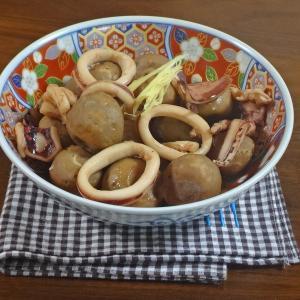 【秋の染みうま煮物】やわらかイカとほっこり里芋の旨煮