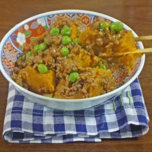 ほっこり!とろける美味しさの南瓜と肉そぼろの甘辛煮