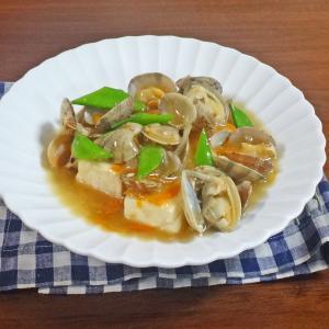 とろっと激うま!あさりと野菜の旨みあんかけ豆腐