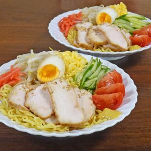 食感たまらない ほろほろ鶏チャーシューとシャキシャキもやしの冷やし中華