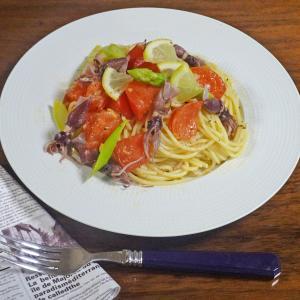 ホタルイカとトマトのさわやかレモン 冷製パスタ