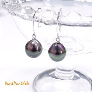 新作!独特な色合いが魅力の黒蝶真珠ピアスです。