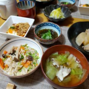 無性に食べたくなって【鯖ご飯】の晩ごはん
