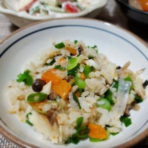 鹽サバの消費で【鯖ご飯】の晩ごはん