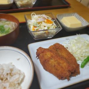 【いわしフライ定食】の晩ごはん