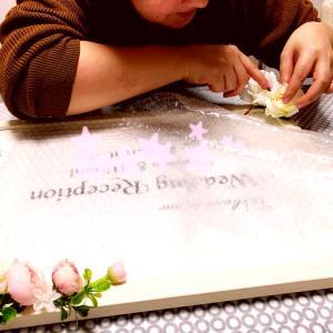 花嫁様の手作りウェルカムボード