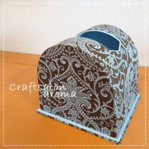 カルトナージュのドーム型ティッシュBOX