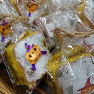 ハロウィーンの焼き菓子プレゼントしております。