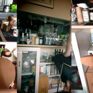 今日は盗難防止の日 キッチンカウンターでお寿司屋さんごっこ。