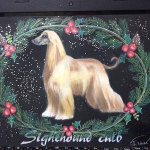 Afghanhound のチョークアートボード