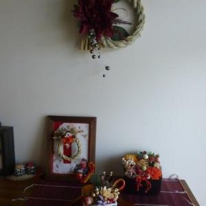 玄関インテリア(お正月)