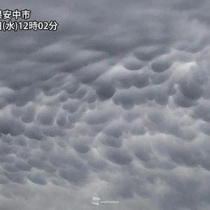 こんな雲があるんやぁ??乳房雲(^^)/
