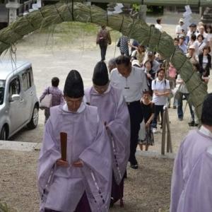 私の地元(^o^)/~~生駒神社(^^)/ 6月30日(土)夏越しの祓(なごしのはらい)茅の輪くぐり