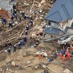 広島市北部の豪雨