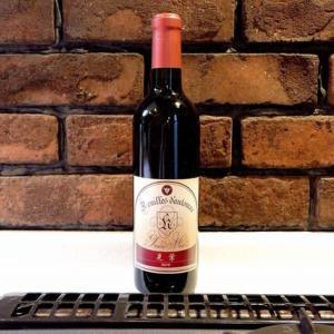 グラン・ミュール カワグチ葡萄園のワインで早くもプレミアムがつきそうな晃葉2019年(メルロー種)と鶏肉とゴボウの赤ワイン煮@鎌倉七里ガ浜