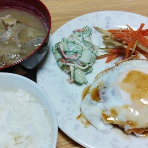 鶏と豆腐のハンバーグとおにぎりサンド