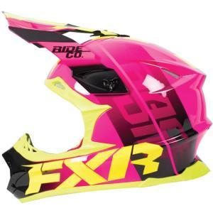 FXR racing カナダ スノーモービル フルフェイス ノーズガード付 超軽量 ヘルメット