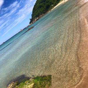 今週から、海水浴場の開設準備がスタートしました!初日は海岸清掃