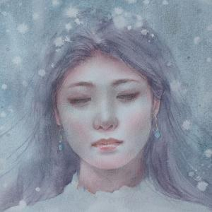 作品☆F6号「雪女」の一部分