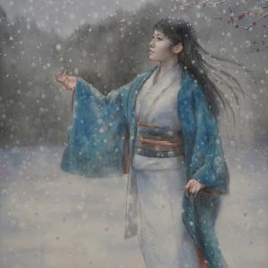作品☆F100号「雪おんな」白日会展中止のお知らせ…