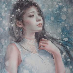 作品☆F6号「雪女」 誕生日☆