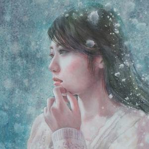 作品☆F4号「雪の華」一部分