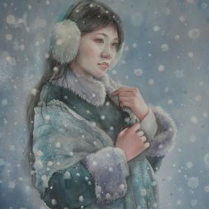 作品☆F12号「Winter garden」