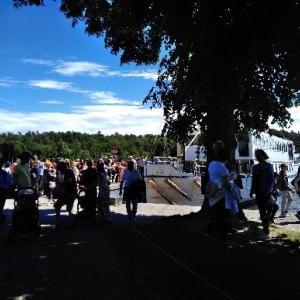 ボートで行く「ドロットニングホルム宮殿」観光 -スウェーデンー