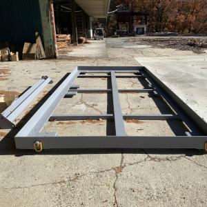 ■ カラマツコンテナ 鉄骨土台/ Japanese Larch Container Steel Basement Frame