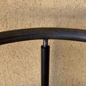 ■カラマツ 3本脚の三日月チェア/ 3 legs Japanese larch and steel chair