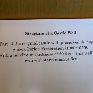■400年前 松本城 29cmの土壁と藁 / Earth Wall of  Japanese national treasure  Matsumoto Castle