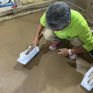 ■ 長野市土蔵修復ワークショップ 土間三和土(たたき) / Restoration of traditional earthern floor workshop in Nagano Japan