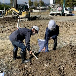 ■長野市現場土 版築テストピース/ test piece of the construction site in Nagano city