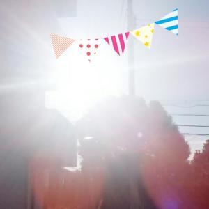 ものすごい太陽に光