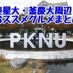 【釜慶大学、慶星大学周辺エリアグルメまとめ】釜山在住者がおススメグルメ!随時更新中